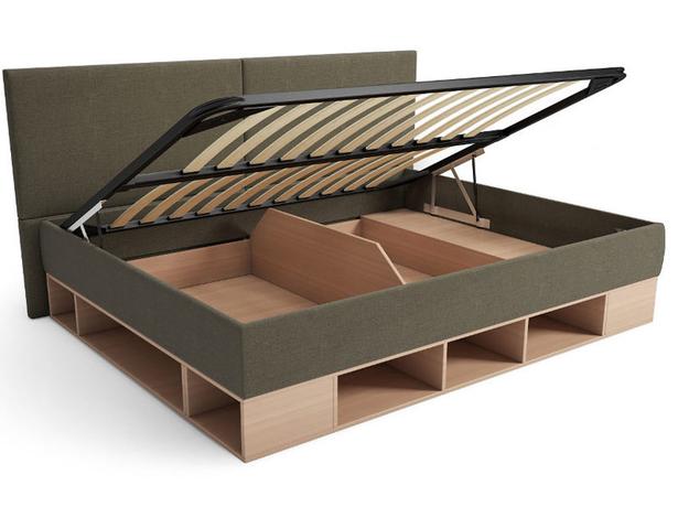 Кровать с подъемным механизмом тахта Lancaster Бук-коричневый