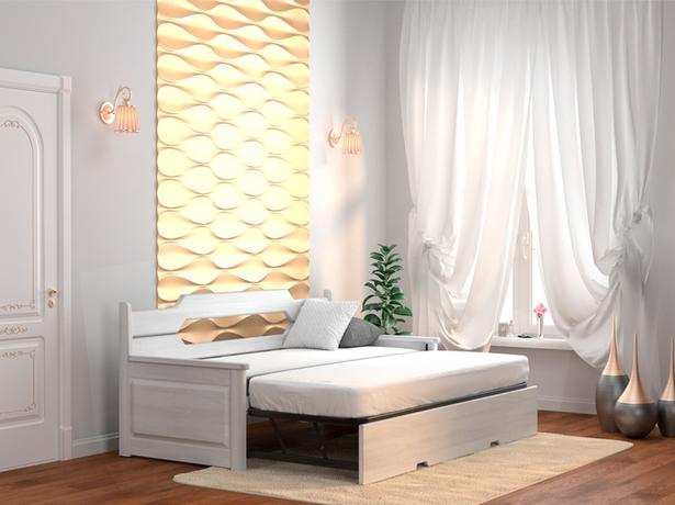 Белая кровать тахта-трансформер Неаполь беленый дуб ясень
