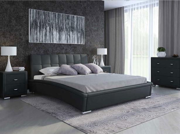 Черная кровать Corso 1 (Samoa)