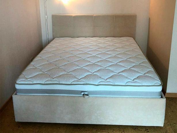 Кровать Life 1 Райтон фото  в ткани Лама Лен