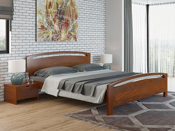 Двуспальная кровать Веста 1 Райтон коричневый в красноту