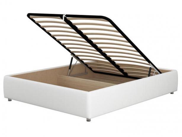 Белая кровать без изголовья Como 1 Base
