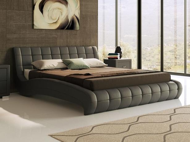 Черная кровать Nuvola 1