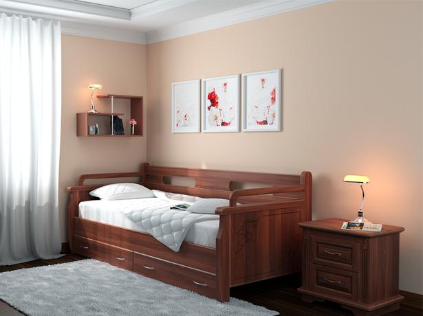Кровать Тахта 2 старая вишня