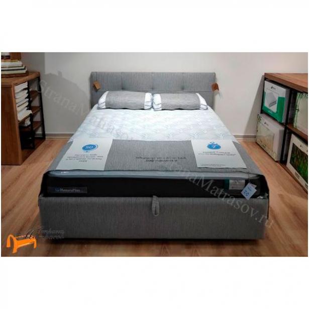 Кровать Life 1 Райтон фото  в ткани Глазго Серый