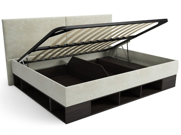 Кровать с подъемным механизмом тахта Lancaster Черный-Лен