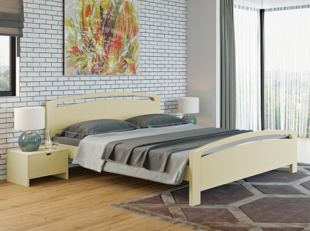 Купить кровать из массива Веста 1 Райтон слоновая кость