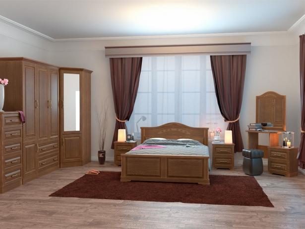 Купить двуспальную кровать из массива Эдем орех