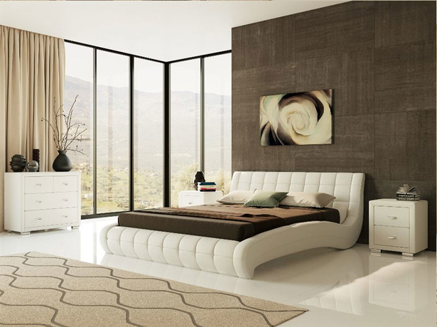 Белая кровать Nuvola 1
