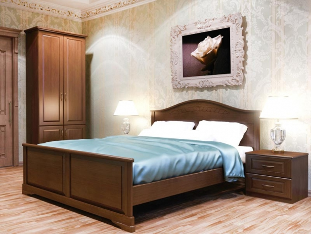 Купить кровать из массива Эдем орех