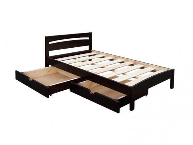 Купить кровать с ящиком Шале Ренессанс каштан