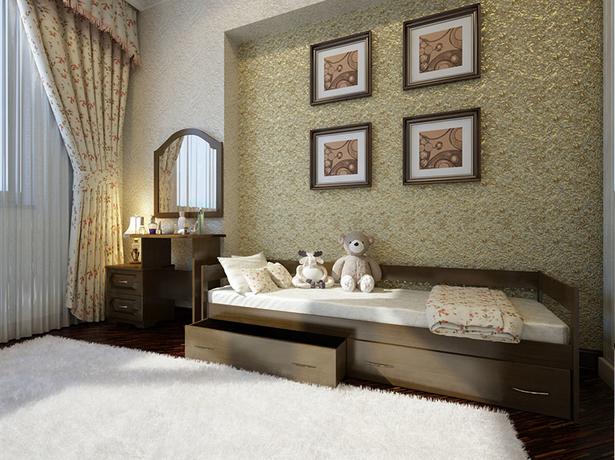 Кровать Тахта из массива с  ящиками
