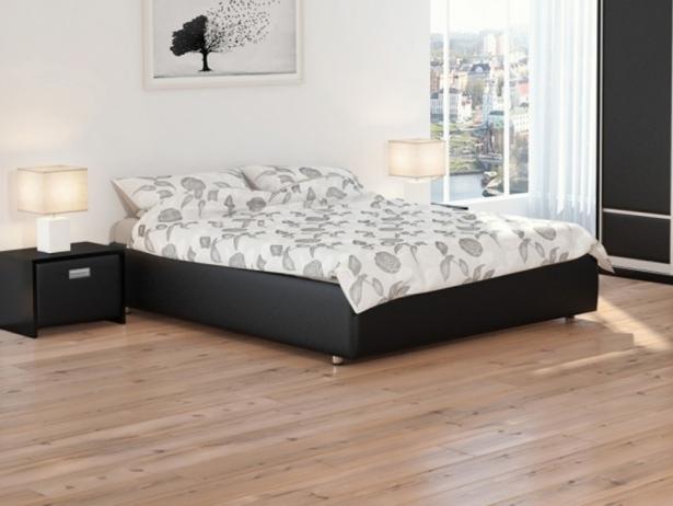 Черная кровать без изголовья Como 1 Base