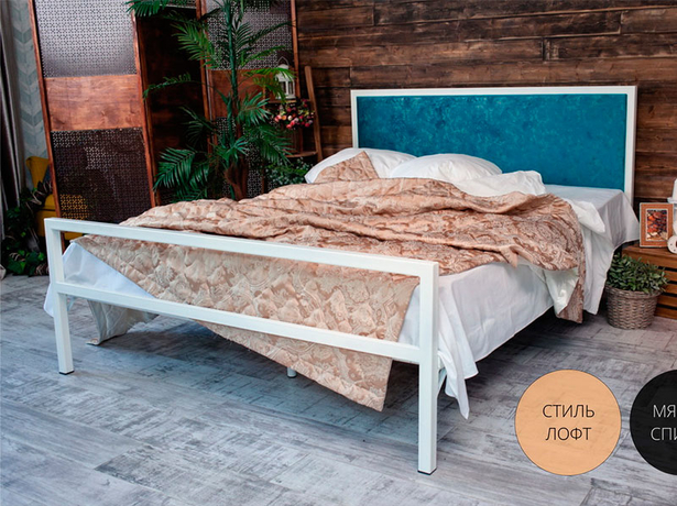 Кровать Francesco Rossi Лоренцо лазурный