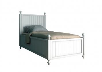 Односпальная белая кровать Palermo