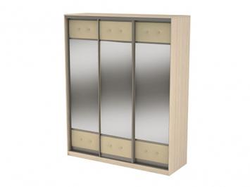 Шкаф-купе 3-х дверный  Неро/Сезия зеркальный