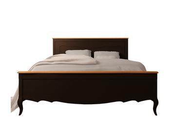 Двуспальная кровать Leontina Black