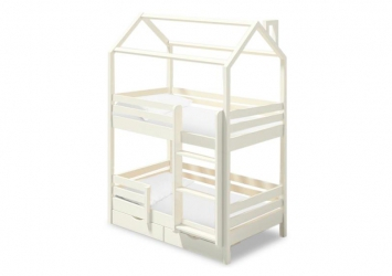 Двухъярусная кроватка-домик Твинкл