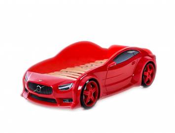 Детская  кровать машина Вольво 3D (серия EVO)