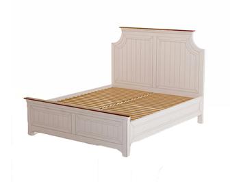 Двуспальная бежевая кровать Olivia