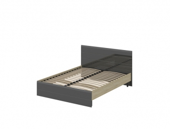 Кровать Эстель Лайт серый глянец