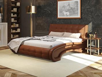 Кровать Leonardo в коже