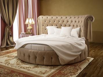 Круглая кровать Ceppi Soft Wall